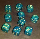 12mm Interferenz Spot Dice - Green